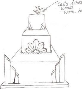 First draft of cake design