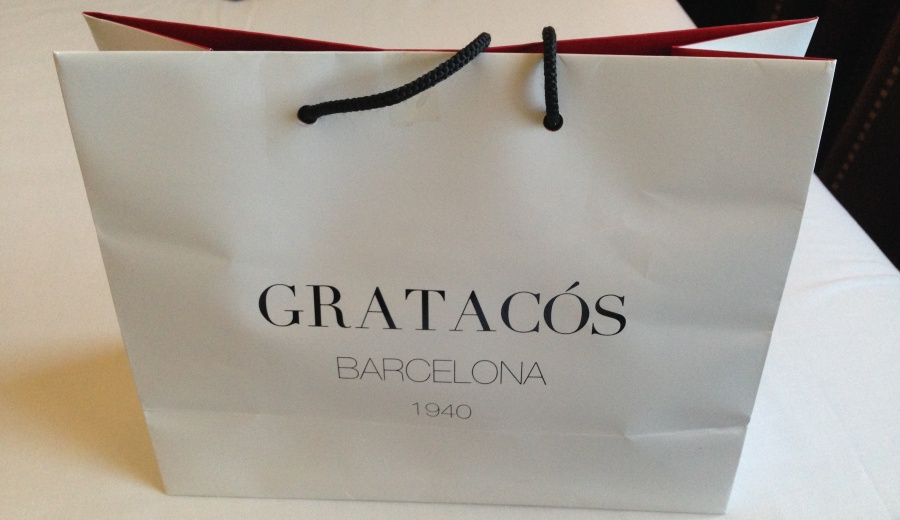 Gratacos established 1940, quality service and a quality bag.  UK fabric shops should take note!